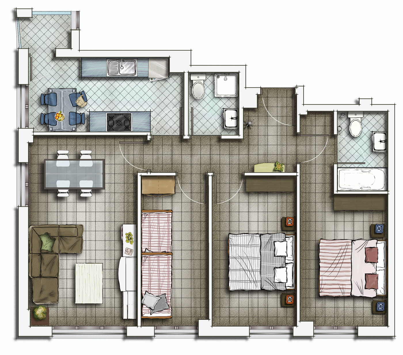 3d-studio-ho-chi-minh-private-residential-house-2d-floor-plans-6