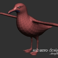 3d-modeling-seagull-wire
