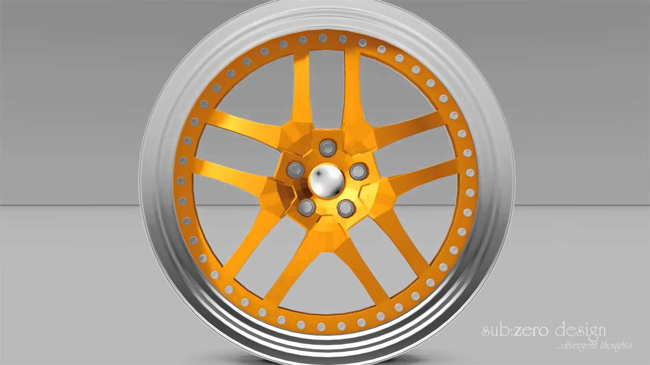 Car Rim Product Demonstration Animation