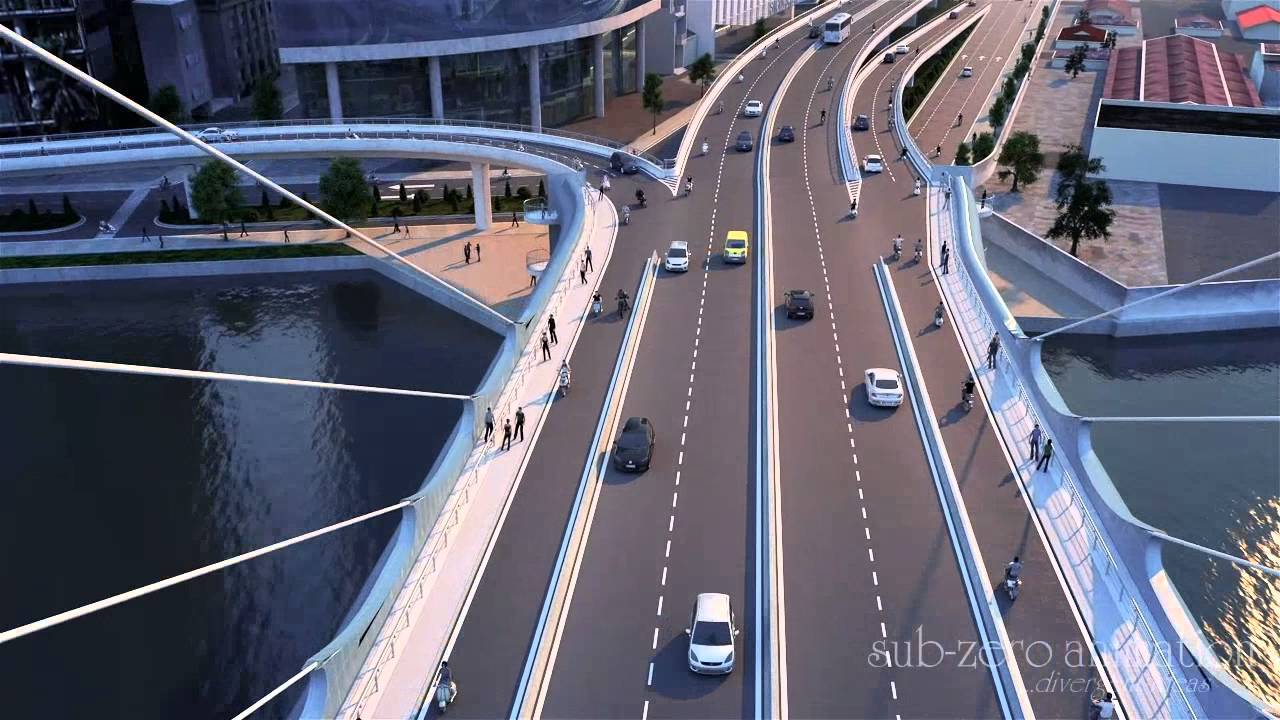 Thu Thiem II Bridge Animation